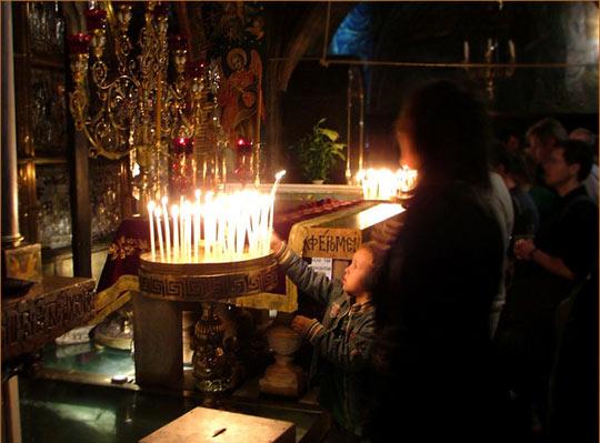 В храме Гроба Господня. Иерусалим